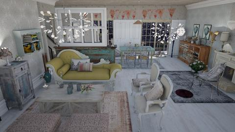 Shabby chic - Glamour - Living room  - by augustmoon