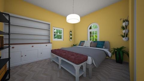 guest garden bedroom - Eclectic - Bedroom  - by aschaper