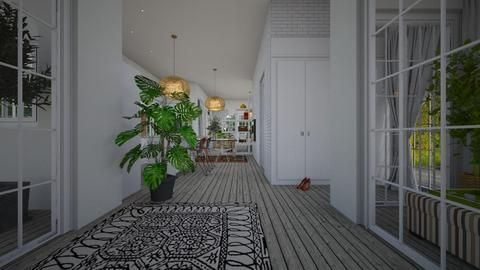 Eclectic_hallway3 - Garden  - by lovasemoke