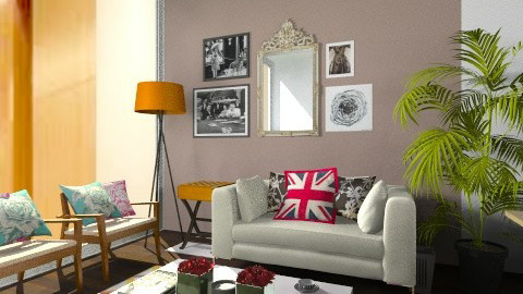 OP 0303_Cream Sofa - Modern - Office  - by MichelleChia