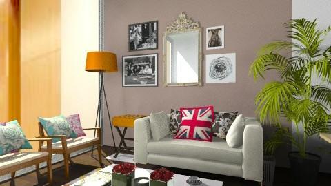 OP 0303_Cream Sofa - Modern - Office  - by MichelleChia
