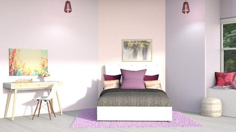Pink N Purple Bed - Feminine - Kids room  - by CitrusSunrise