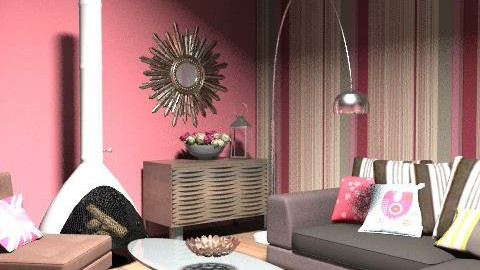 Pink Room Competition - Glamour - Living room  - by laurawoodley