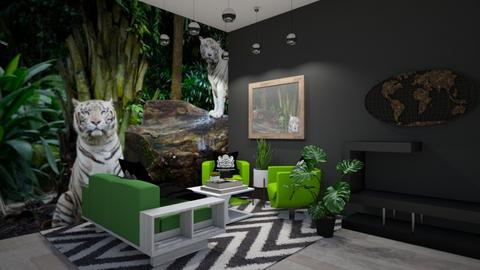 Jungle Themed snug - Living room  - by riordan simpson