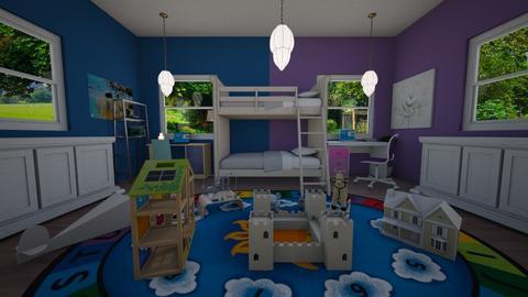 TwinTime - Retro - Bedroom  - by Eli_Anna
