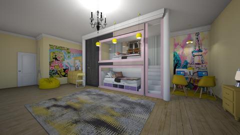 Sisters Paris Room remix - Kids room  - by 29catsRcool