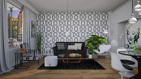 Geo Small Space - Modern - Living room  - by janip