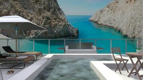Pure Greek Summer  - Garden  - by vesperart