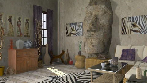 Africa - Eclectic - Living room  - by deepthinker