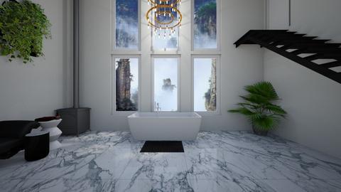 luxe bath - Glamour - Bathroom  - by lionhuntress29