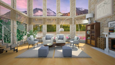 Mountain spring - Retro - Living room  - by mariescorner