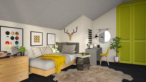 Student Dorm - Bedroom  - by MiaM
