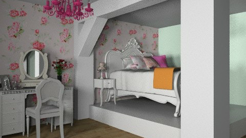 bedroom_shabby_chic - Rustic - Bedroom  - by busybob