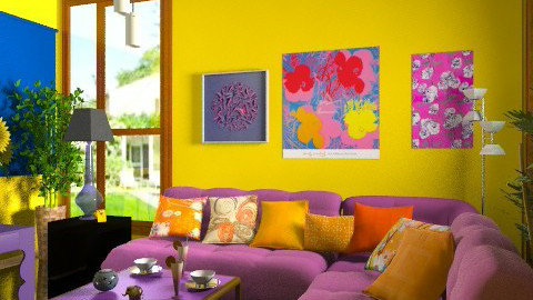 new colors - Eclectic - Living room  - by milyca8