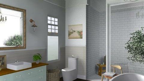 Newport Beach Main Bath2 - Vintage - Bathroom  - by LizyD
