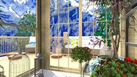Gardenhouse with patio - Country - Garden  - by johannab
