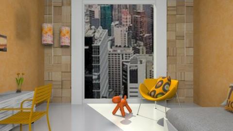 Bedroom Orange - Retro - Bedroom  - by Vmendes