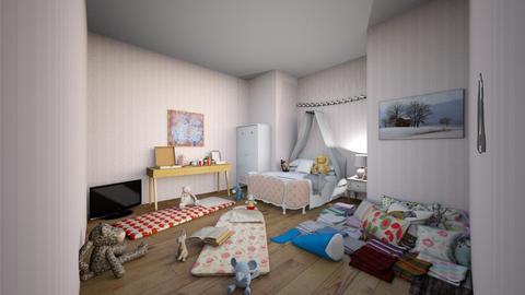 Sleepover room 2  - Bedroom  - by waffledoghaha