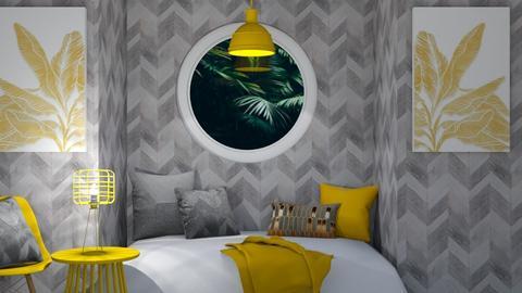 jungle bedroom - Bedroom  - by Corzer