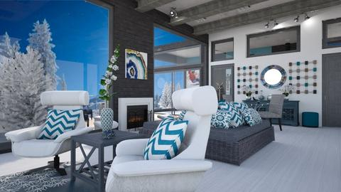 Winter Retreat  - Living room  - by Amyz625