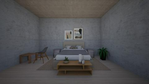 Concrete bedroom - Bedroom  - by hannahelise1 and louisebelle