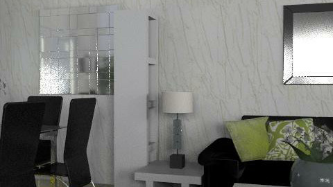 white/green/blk  - Glamour - Living room  - by Cathd0411