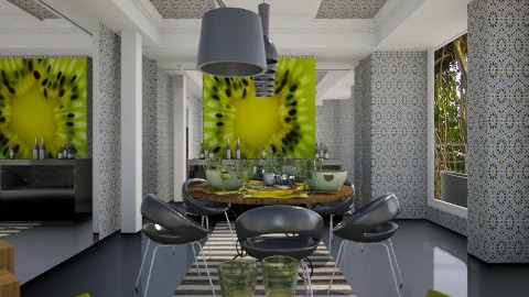 modern dining - Eclectic - Dining room  - by chania