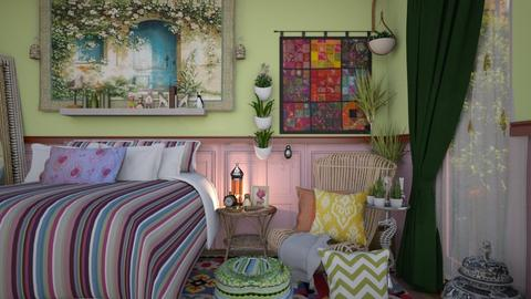 boho bed - Eclectic - Bedroom  - by donella