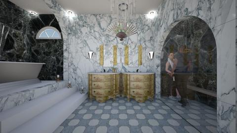 Art Deco Bath - Bathroom  - by SammyJPili
