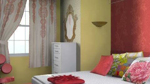 Flower Bedroom - Retro - Bedroom  - by SariJo