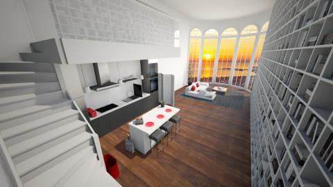 Living in a Church 2 - Modern - Living room  - by Keliann