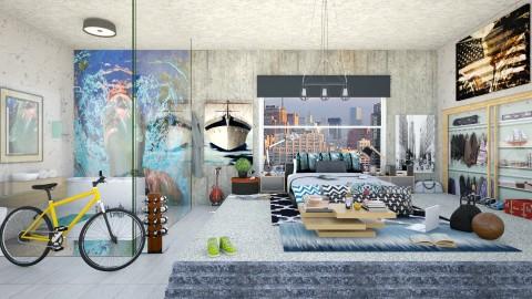 Loft Bedroom in Soho - Modern - Bedroom  - by creativediva