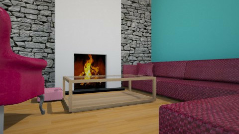 blue and purple - Modern - Living room - by vicky18