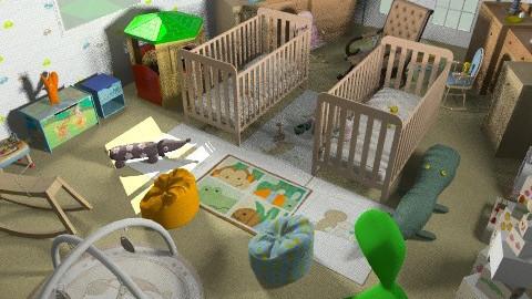 baby boy nd gal's nursery room - Modern - Kids room  - by shivu