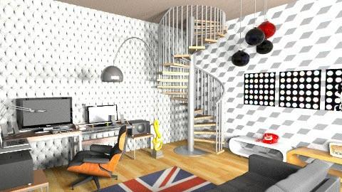 studio basement - Eclectic - Office  - by deedy saleh