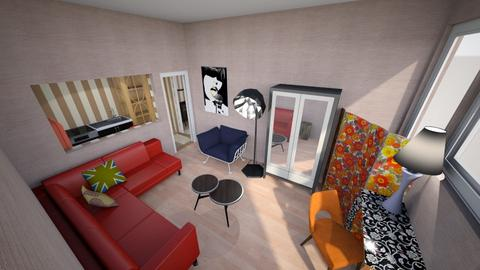 Bold Eclectic Studio - Eclectic - Living room - by KajsaRain