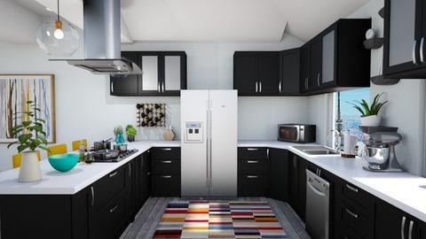 Calm Studio Kitchen View3 - Modern - Kitchen - by musicdesign22