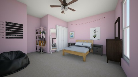 My current room  ew pink  - Bedroom - by Cora_da_B0ss