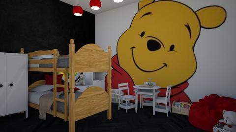 Winnie the Pooh kids room - Kids room  - by guacamolestyle