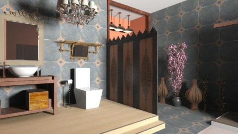 Tile Bathroom - Rustic - Bathroom  - by NatalieH
