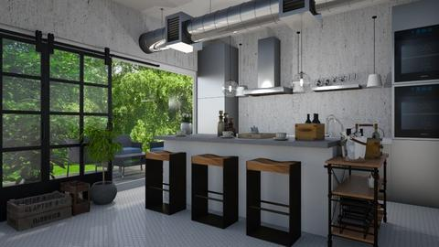 grey kitchen  - by gvidiani_nina