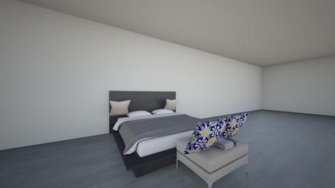 master bedroom - Modern - Bedroom  - by waffalesOMG