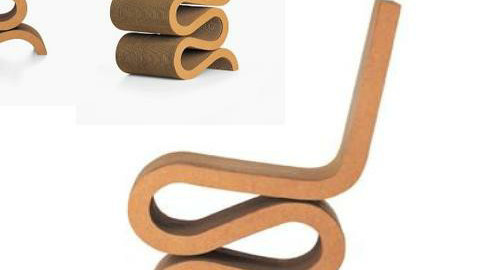 Frank Gehry WIGGLE CHAIR 1972 - by cat 77