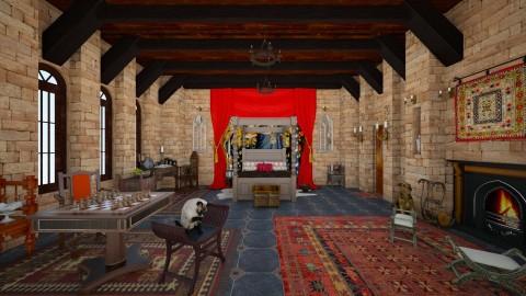Medieval Room - Vintage - Bedroom  - by Sophia Cooper