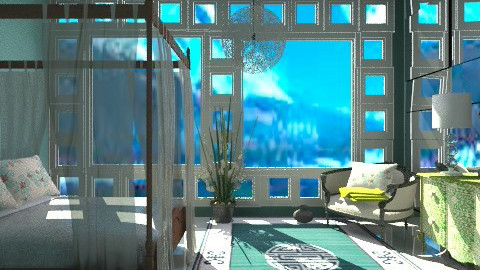 White Bedroom - Eclectic - by PomBom