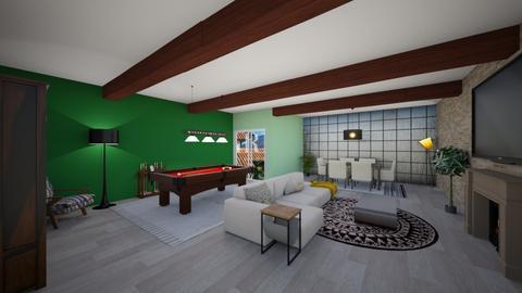 rdresy pool living room - Living room - by rdresy