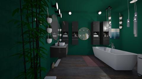 green  wood  - Bathroom  - by Muggle__aarushi