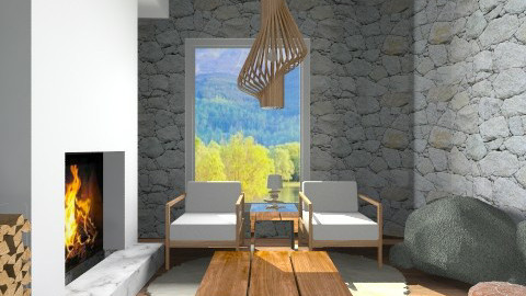 winter house - Rustic - Living room  - by wagner herbst padilha