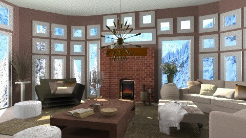 Winter Wonderland - Rustic - Living room  - by rampage