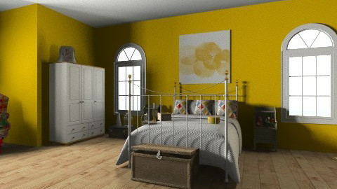 Descanso Rural - Vintage - Bedroom  - by ericeira